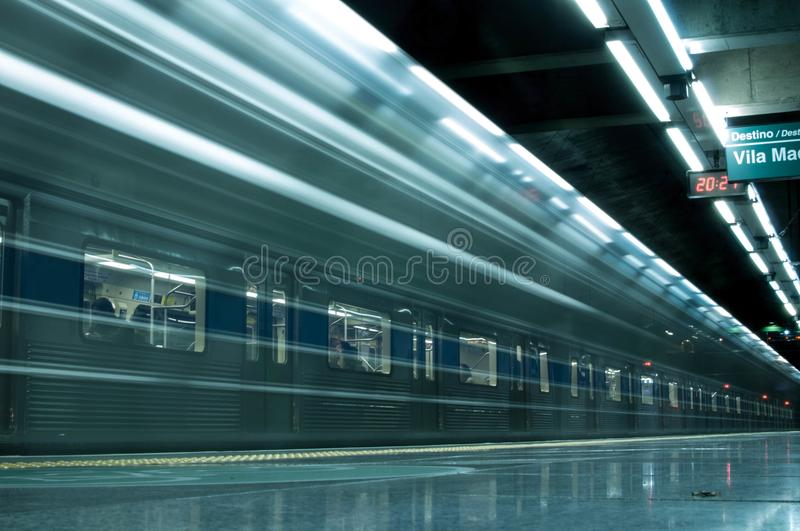 Time Lapse Photography Of Train In Train Station stock photos