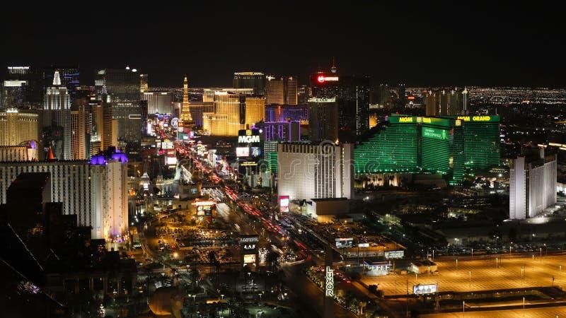 Time lapse of the strip las vegas boulevard at night las vegas nevada unite stock footage