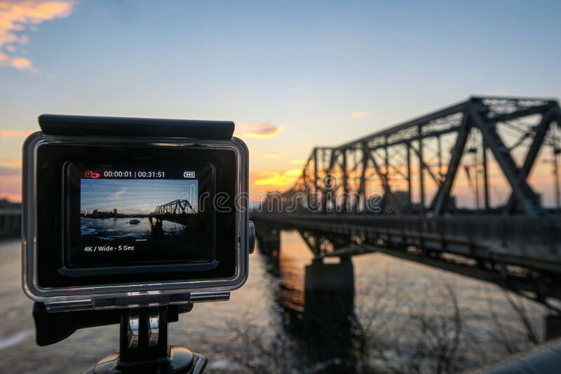 Time lapse of a sunset royalty free stock photos
