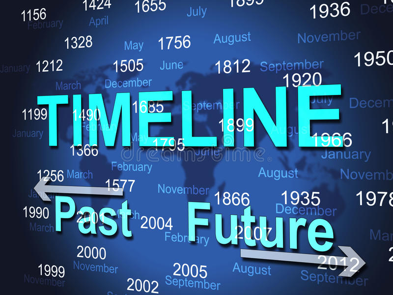Time Line Represents Timeline Chart And Done. Time Line Meaning Timeline Chart And Gone vector illustration