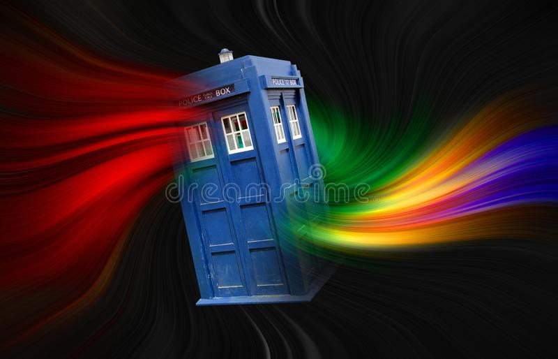 Time lord doctor who space travel tardis vortex black hole royalty free stock photos