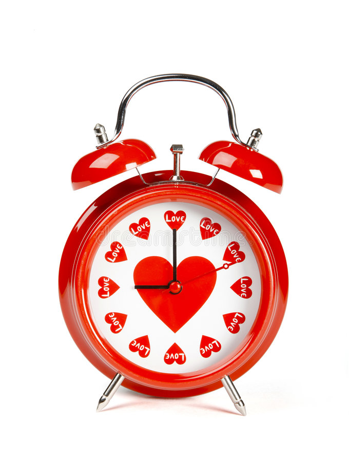 Time for love stock photography