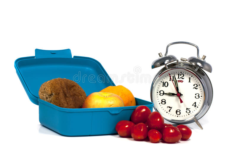 Download Time for lunch stock image. Image of orange, isolated - 26479245