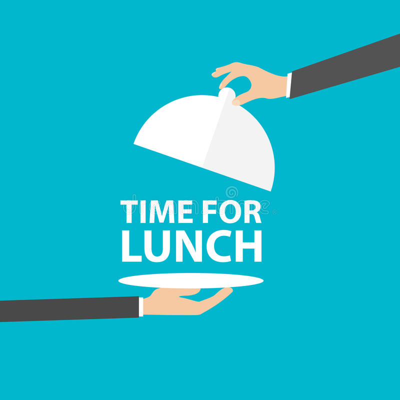 Time for lunch, vector. Time for lunch, Flat design style, Vector illustration. EPS 10 stock illustration