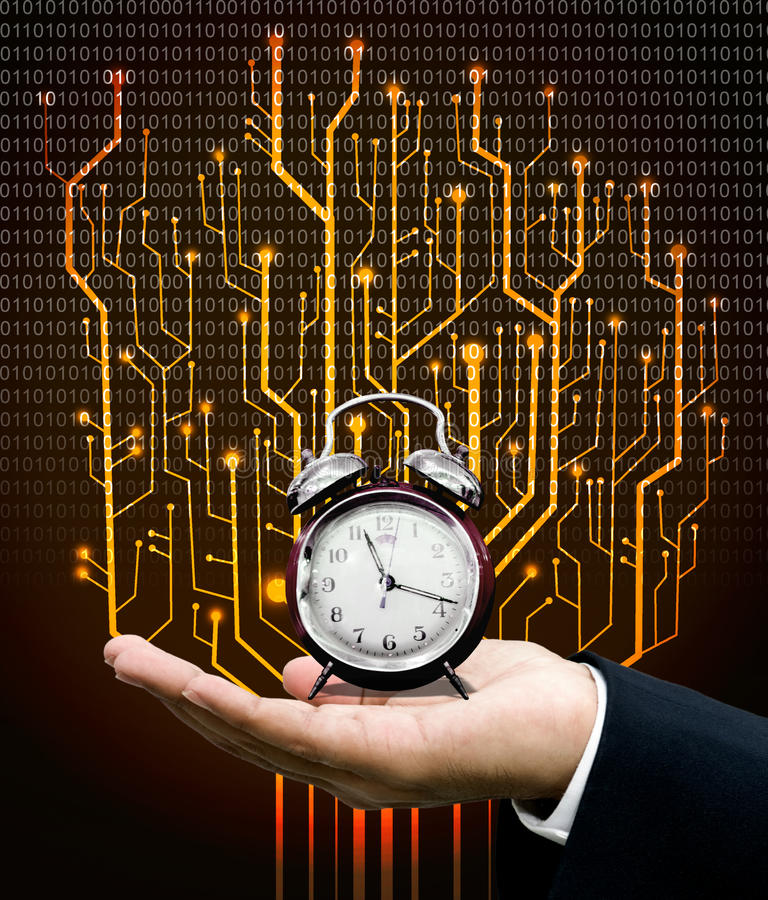 Time machine concept royalty free stock image