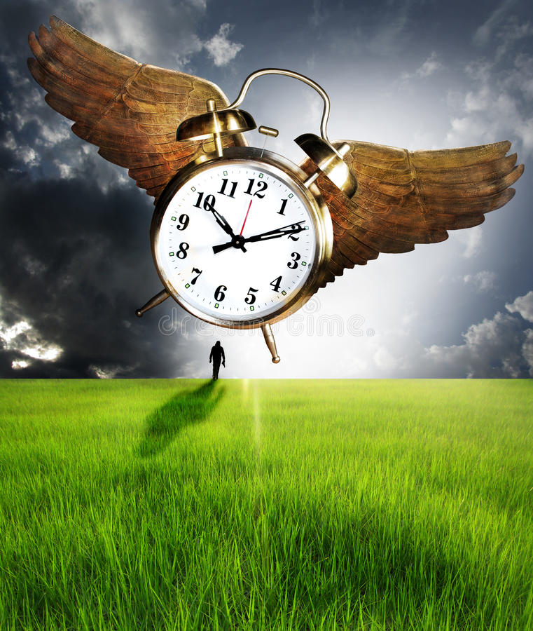 Download Time and man stock photo. Image of story, flying, walking - 31372454