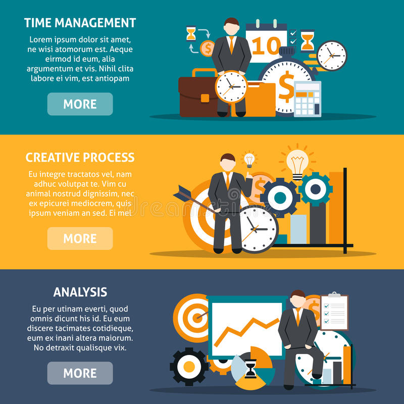 Time Management Banners stock illustration