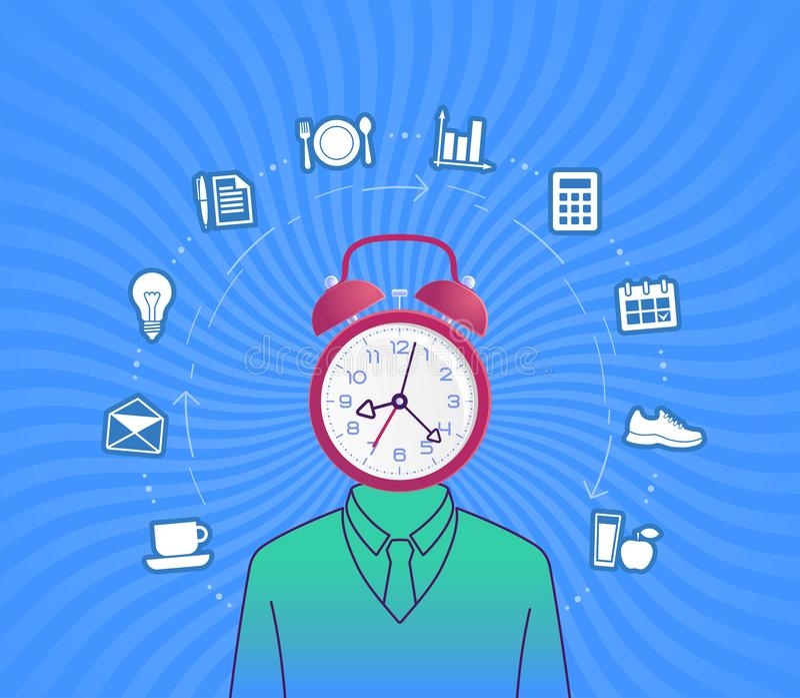 Time Management royalty free illustration