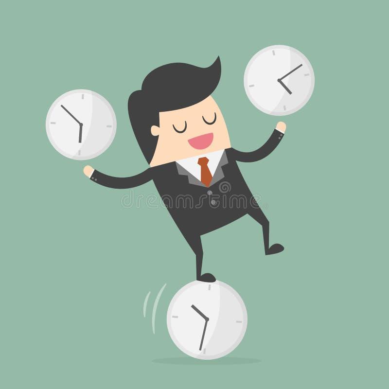 Time Management Business Concept Illustration stock illustration