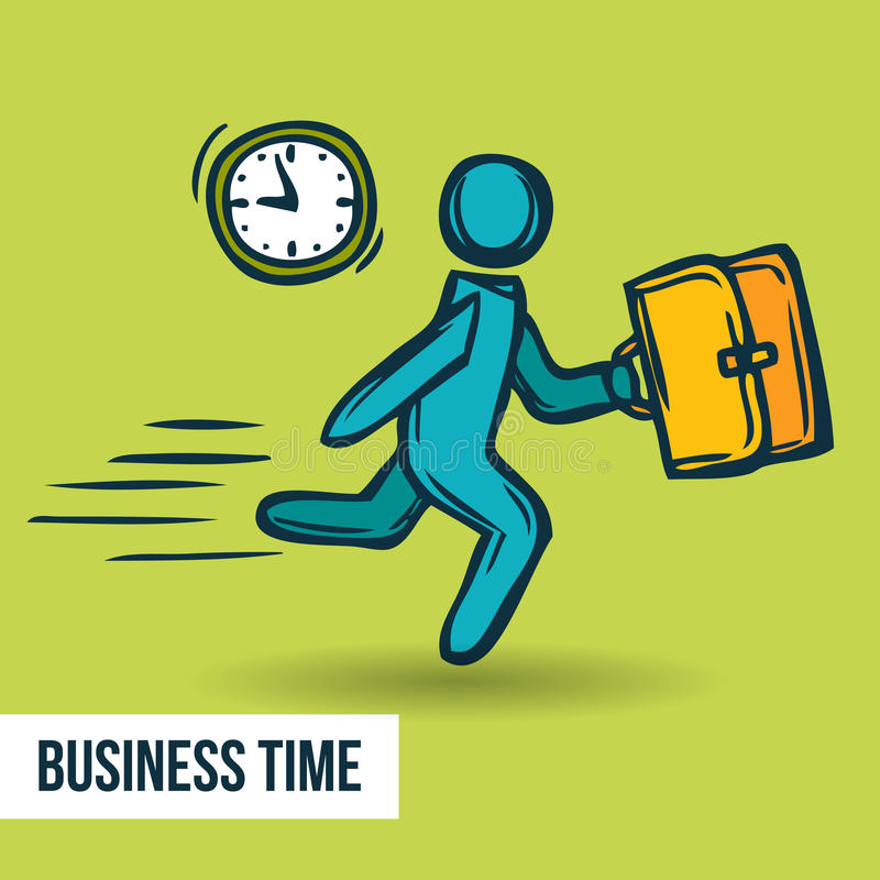 Time management business sketch vector illustration