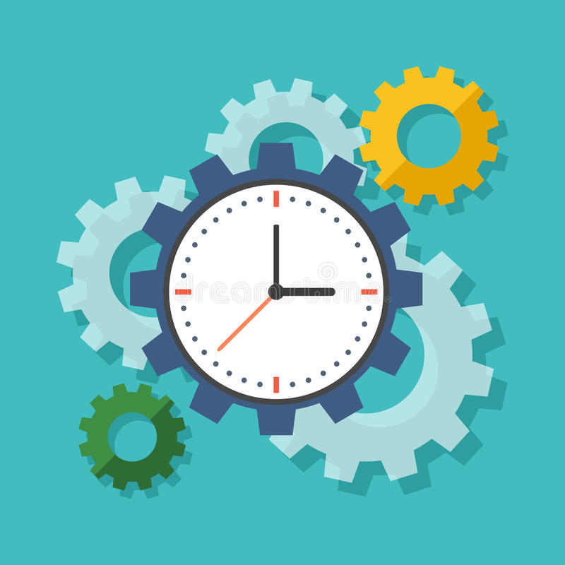 Time management concept. Flat design stylish. stock illustration