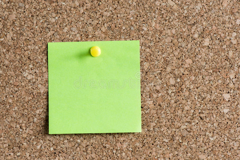 Time Management Concept With Reminder Color Paper. On Cork Board royalty free stock photos