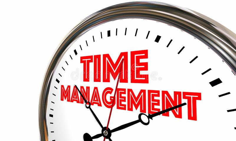 Time Management Efficient Clock Managing Projects 3d Illustration vector illustration
