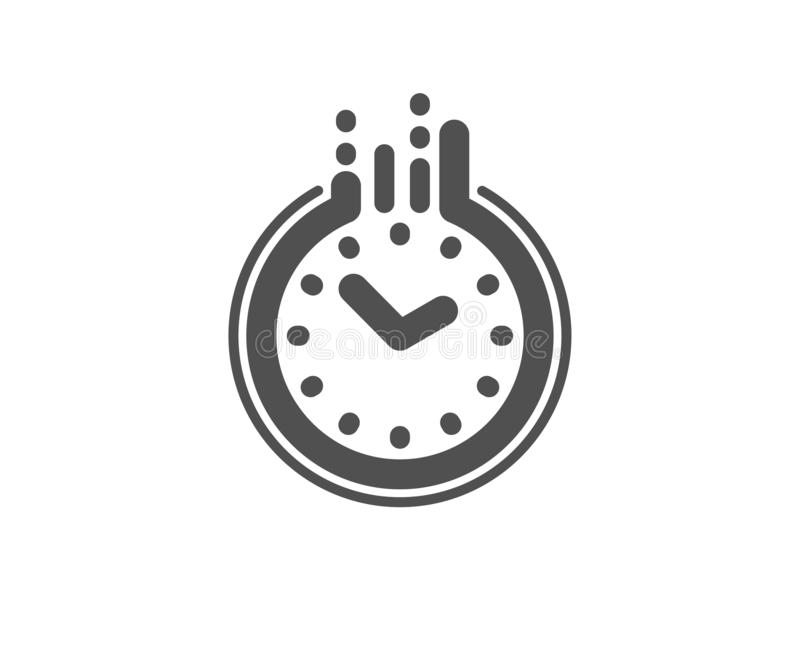 Time management icon. Clock sign. Watch. Vector. Clock sign. Time management icon. Watch symbol. Classic flat style. Simple time icon. Vector royalty free illustration