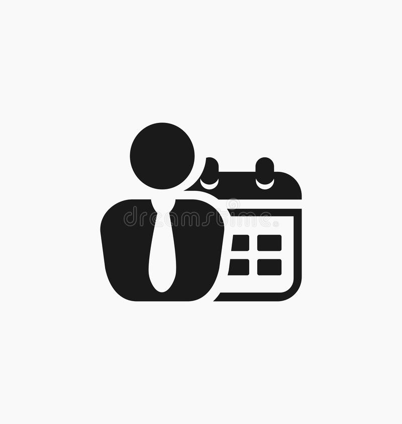 Time management icon. Deadline icon.  royalty free illustration