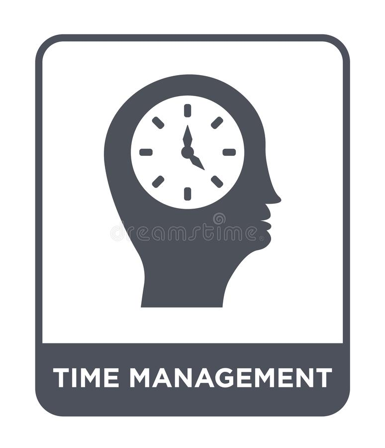 Time management icon in trendy design style. time management icon isolated on white background. time management vector icon simple. And modern flat symbol for royalty free illustration