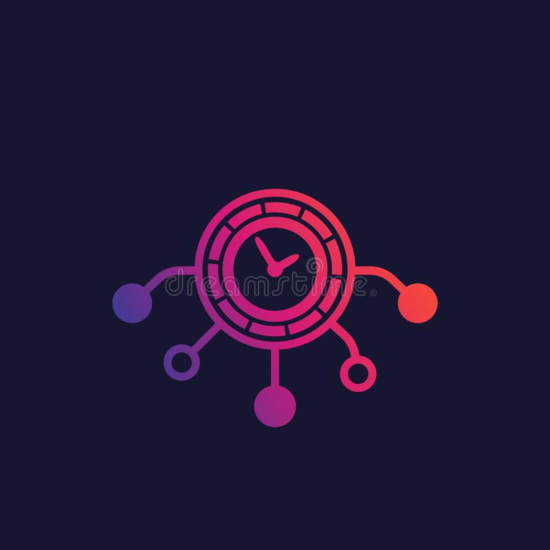 Time management icon, vector. Eps 10 file, easy to edit vector illustration