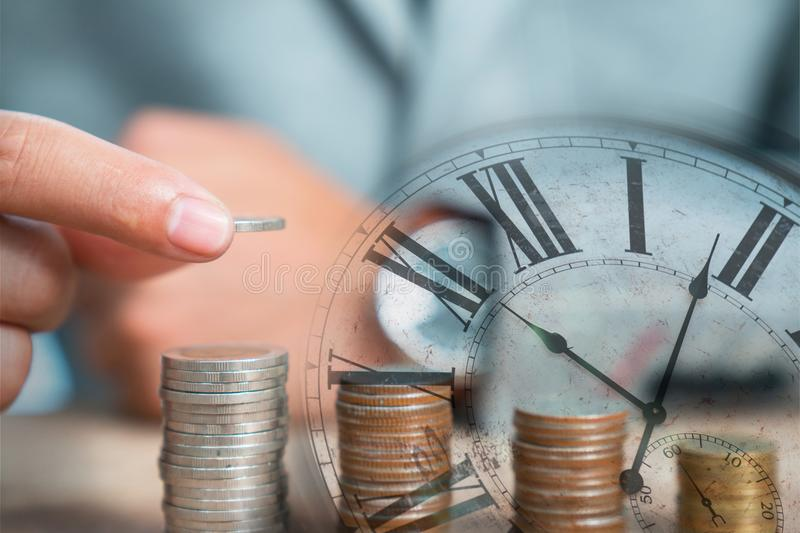 Time management ideas invest royalty free stock photography
