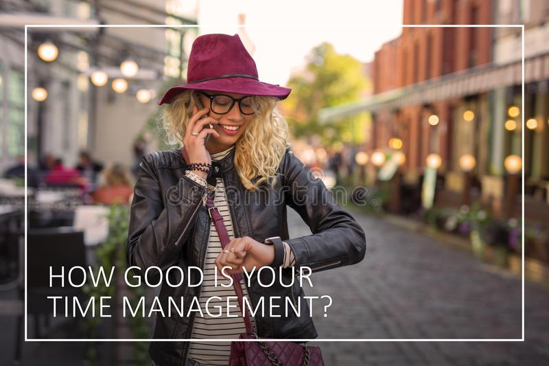 Time management is the key to your success. Time management is the key to success royalty free stock photography