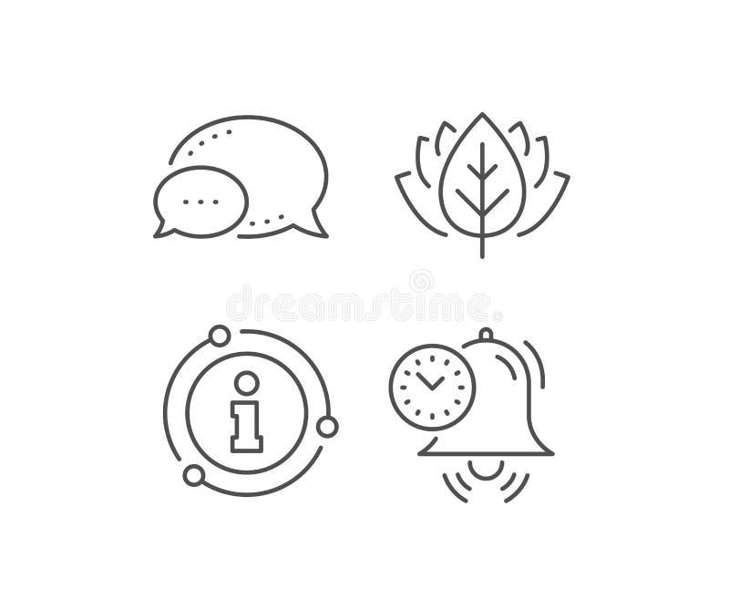 Time management line icon. Alarm clock sign. Watch. Vector. Time management line icon. Chat bubble, info sign elements. Alarm clock sign. Watch symbol. Linear royalty free illustration