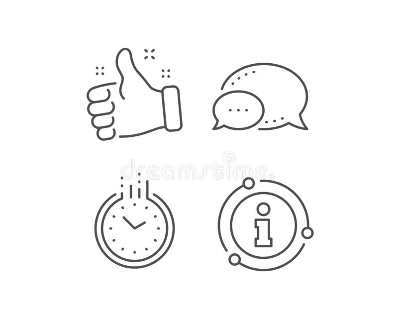 Time management line icon. Clock sign. Watch. Vector. Time management line icon. Chat bubble, info sign elements. Clock sign. Watch symbol. Linear time outline vector illustration