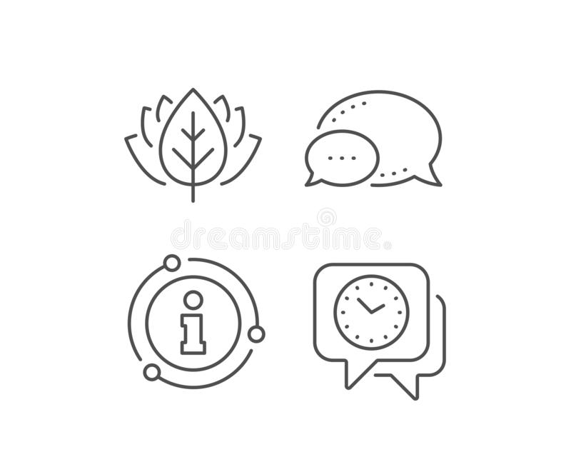 Time management line icon. Clock watch sign. Deadline. Vector. Time management line icon. Chat bubble, info sign elements. Clock watch sign. Deadline symbol royalty free illustration