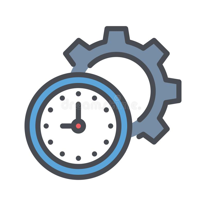 Time management outline vector icon. simple outline filled element illustration from business concept. editable vector. vector illustration