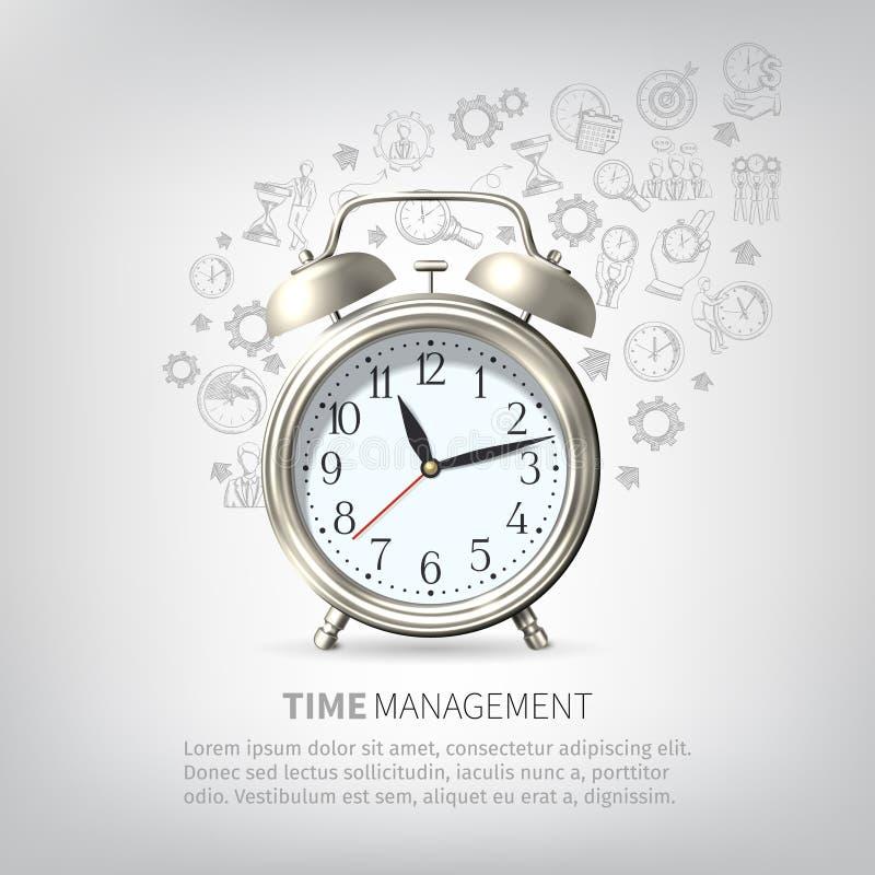Time Management Poster stock illustration