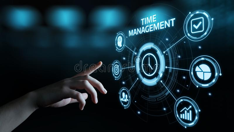 Time management project efficiency strategy goals business technology internet concept stock photos
