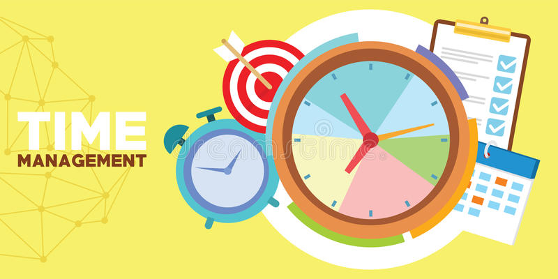Time management and schedule vector illustration