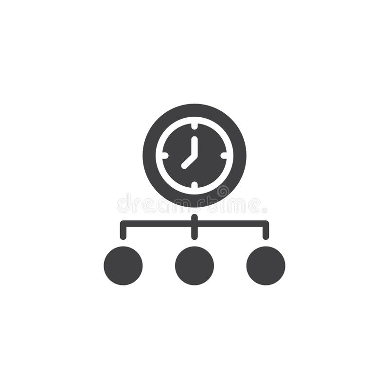 Time Management vector icon royalty free illustration
