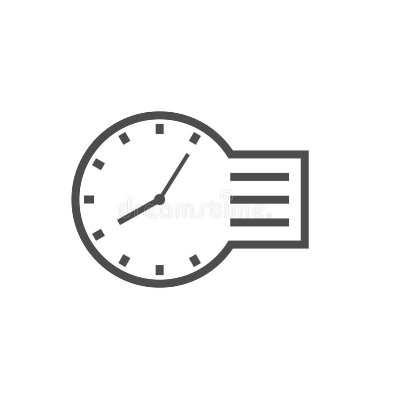 Time management vector icon stock illustration
