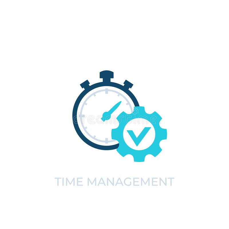 Time management vector icon on white. Eps 10 file, easy to edit vector illustration