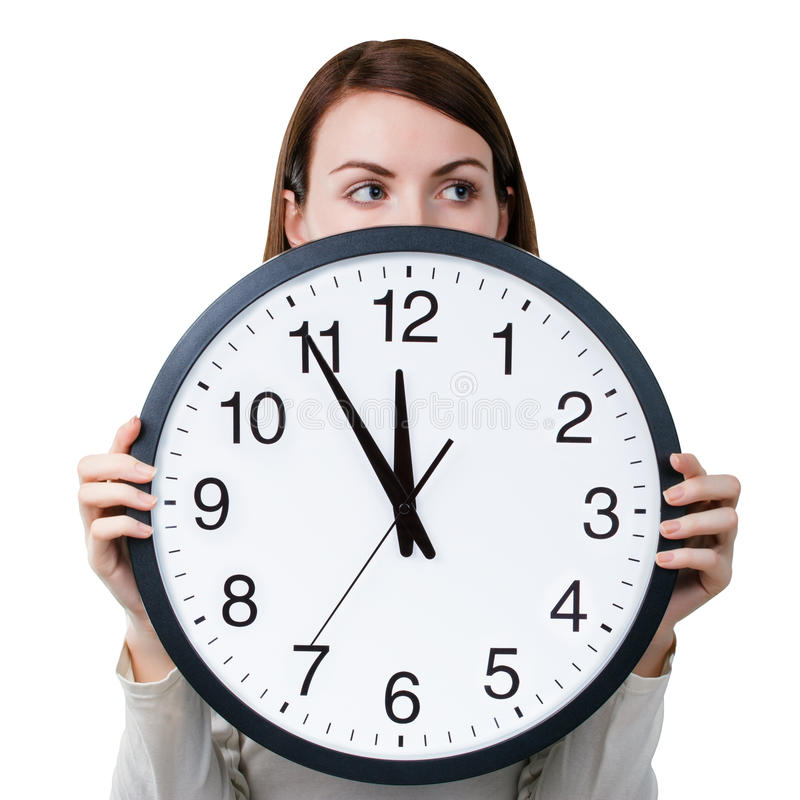 Time management for woman stock image