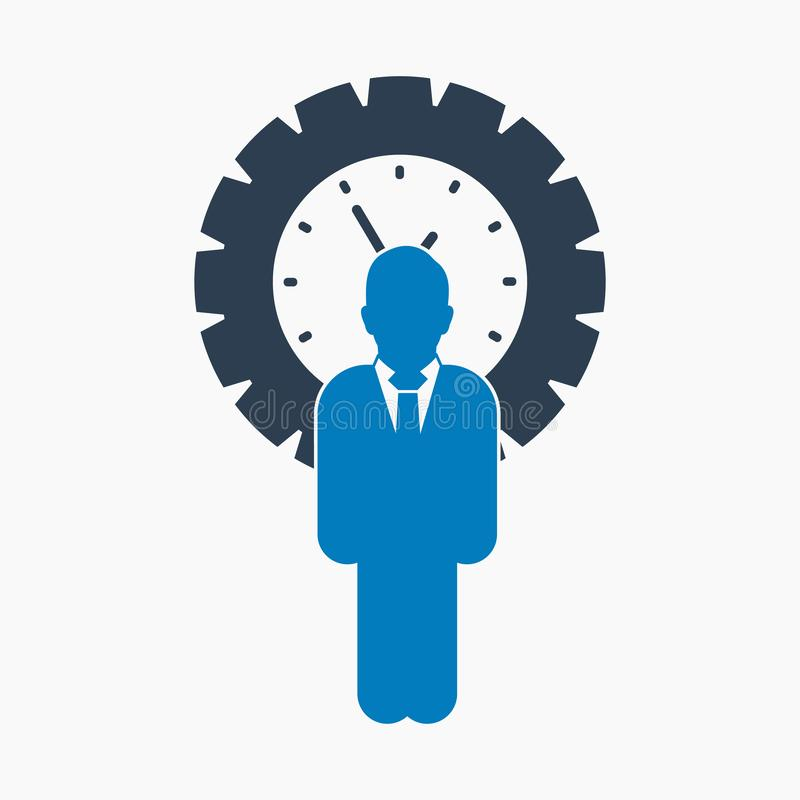 Time manager icon. royalty free illustration