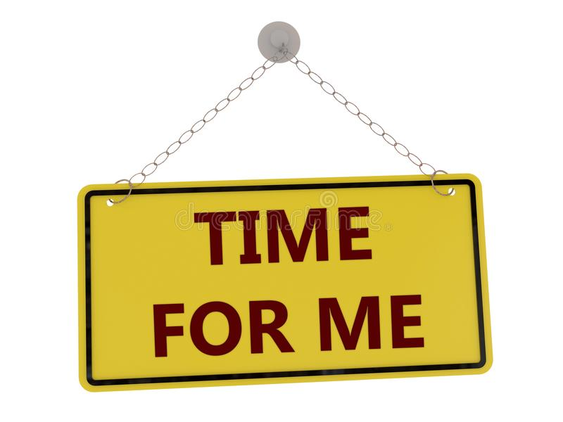 Time for me sign royalty free illustration