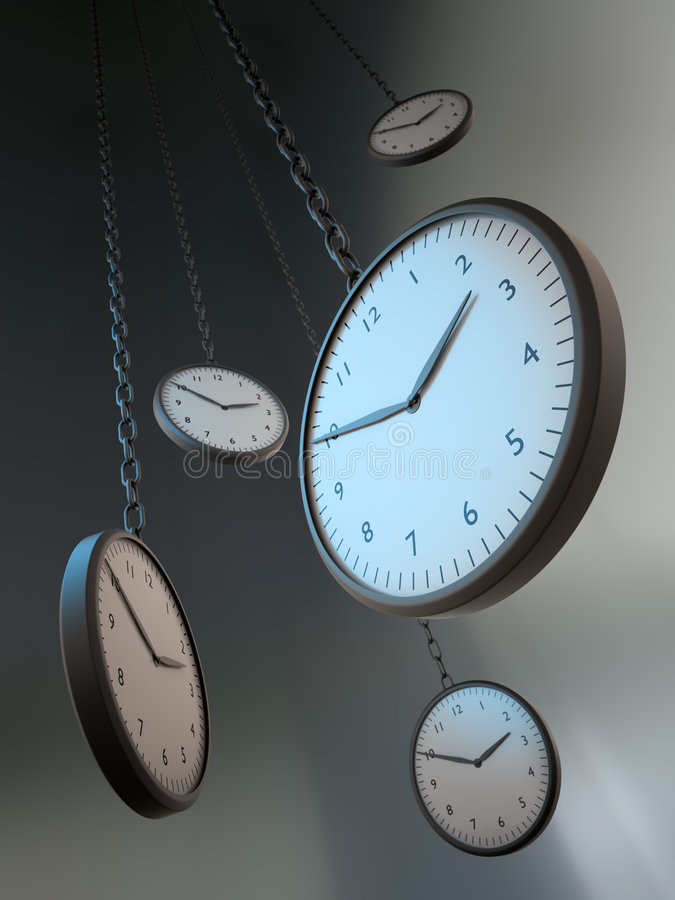 Time metaphor royalty free illustration