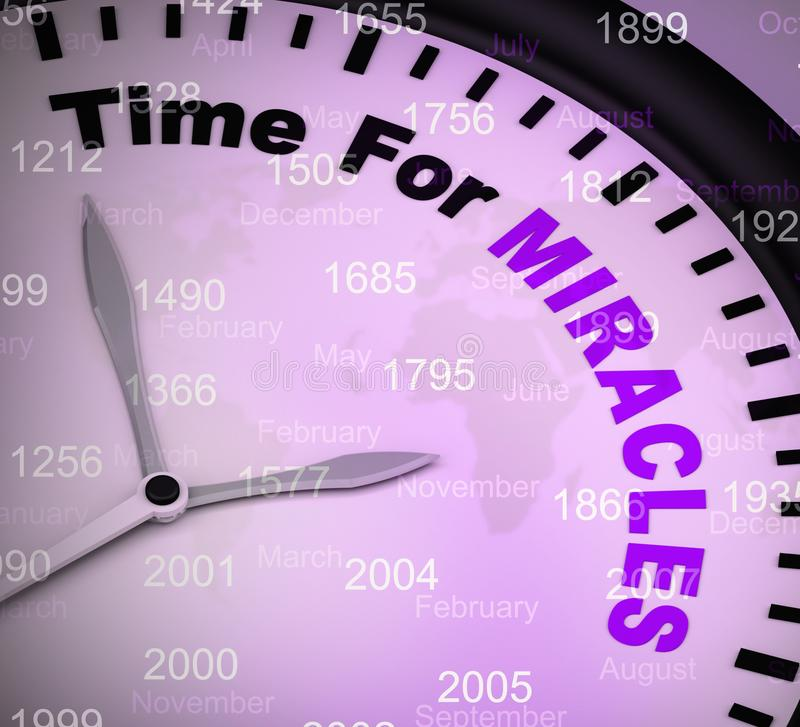 Time for miracles concept icon shows miraculous wonders - 3d illustration. Time for miracles concept icon shows miraculous wonders. Divinations and amazing vector illustration