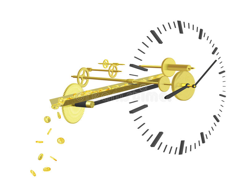 Time is money royalty free illustration