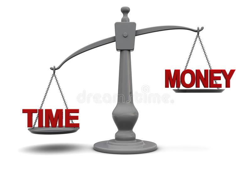 Time and money royalty free illustration