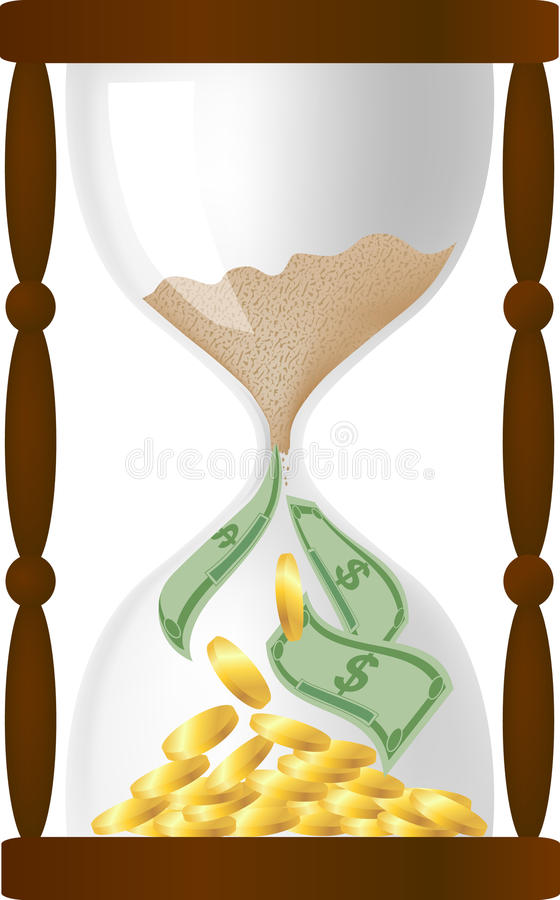Download Time is money stock vector. Image of gold, coin, monetary - 14774597