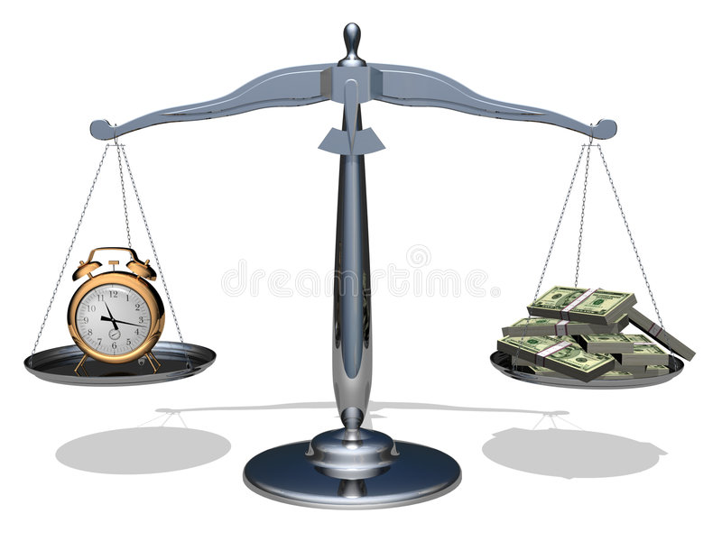 Time is money. The relationship between time and money. Conceptual image