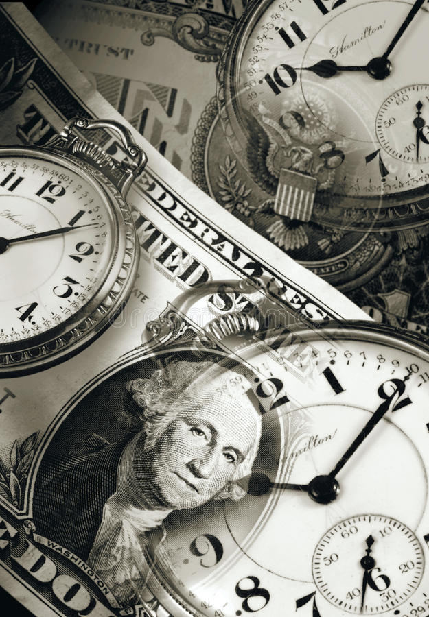 Download Time is Money stock image. Image of money, banknote, clock - 20045513