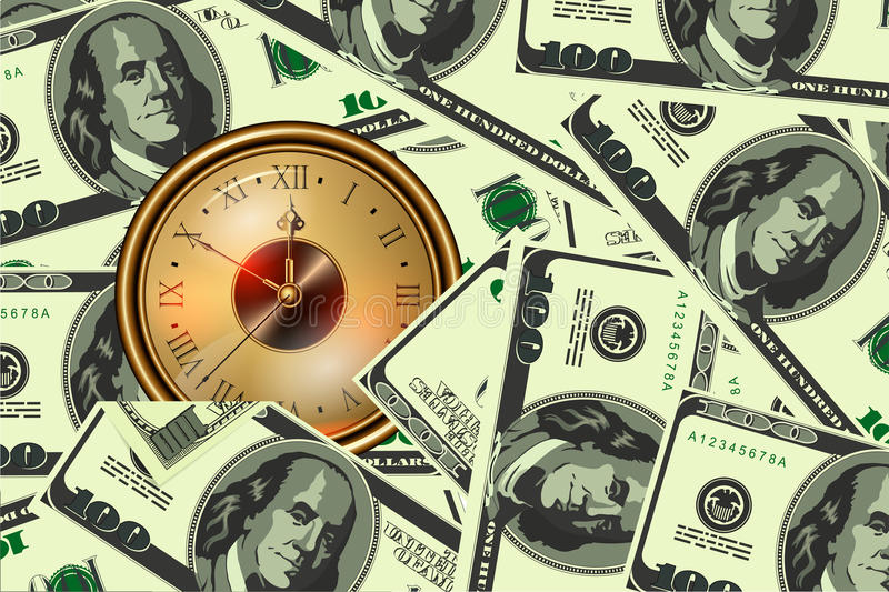 Download Time is money stock vector. Illustration of money, image - 23114880