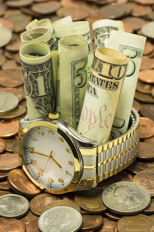 Download Time Is Money stock image. Image of face, debt, bracelet - 26018821