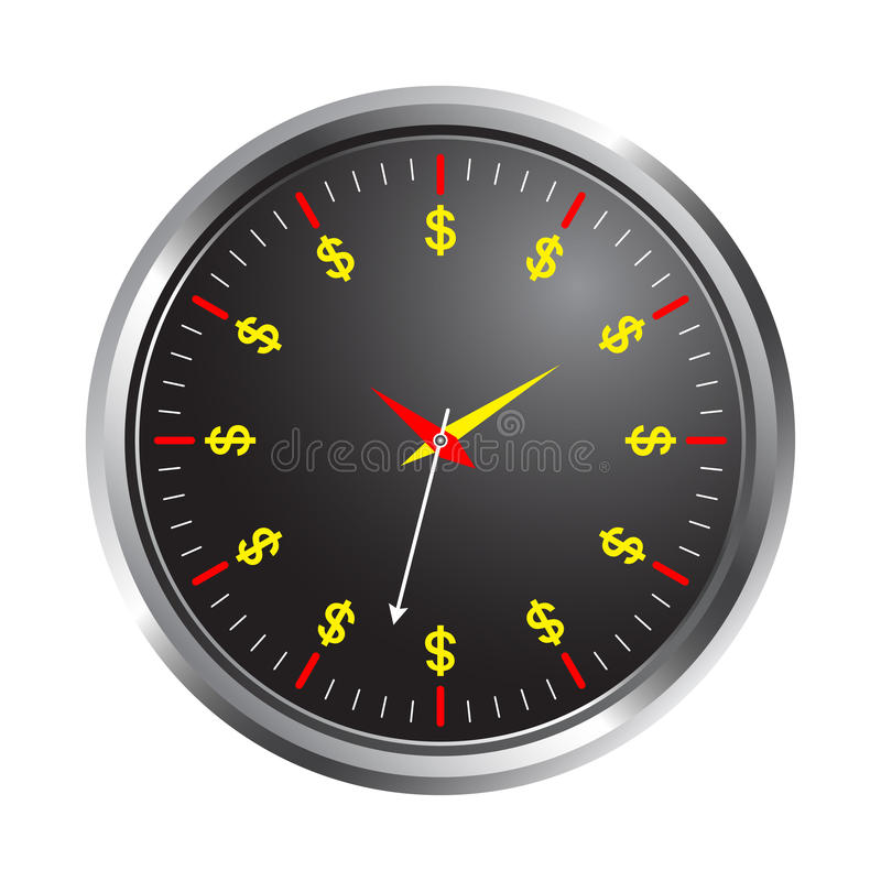 Time is money. Illustration of clock on time is money concept vector illustration