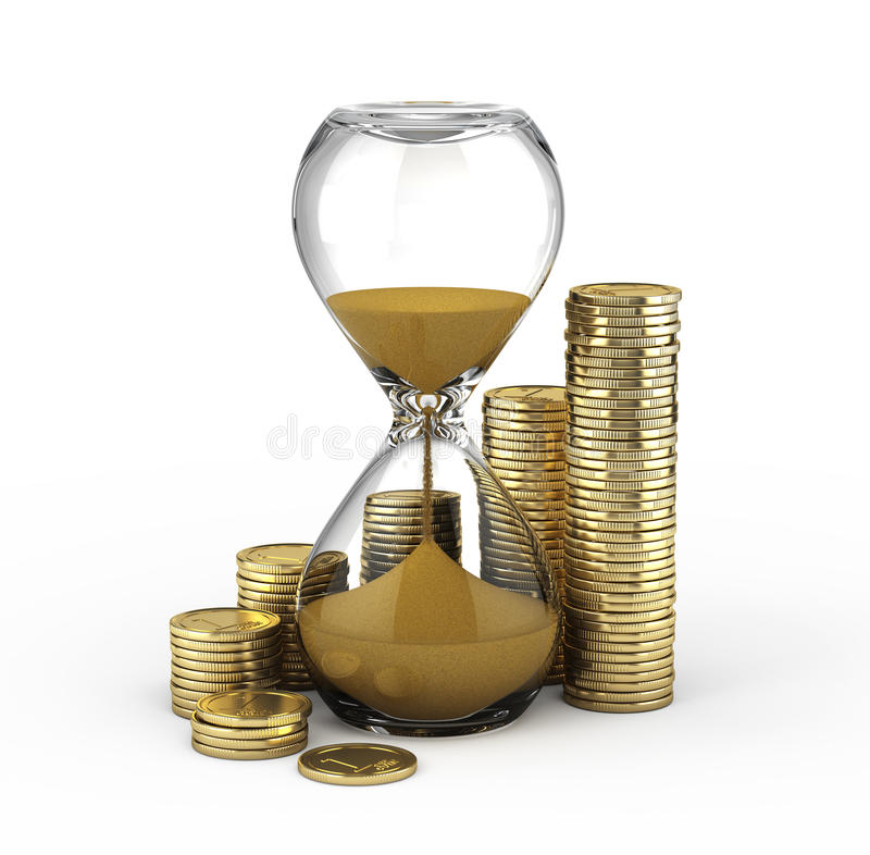Download Time is money stock illustration. Illustration of currency - 27280691