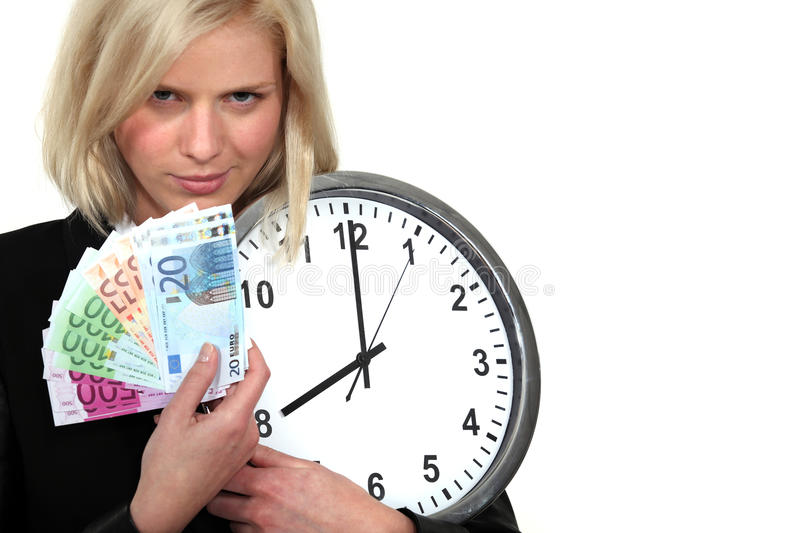 Download Time is money. stock photo. Image of hurry, attractive - 28010620