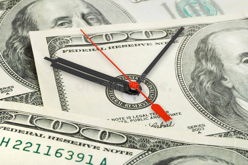 Time is money. Business concept background royalty free stock image