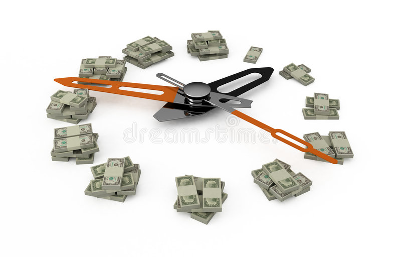 Time is money. stock illustration